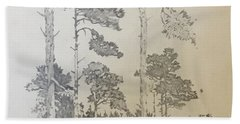 Lonely Pines Hand Towel