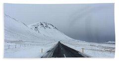 Lonely Road On Snaefellsnes Peninsula Bath Towel