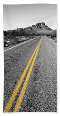 Lonely Road Hand Towel