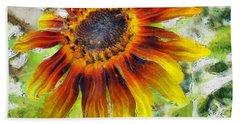 Lonely Sunflower Bath Towel