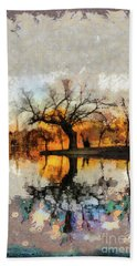 Lonely Tree And Its Thoughts Bath Towel
