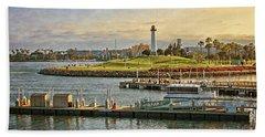 Long Beach - Rainbow Harbor Lighthouse Hand Towel