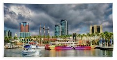 Long Beach Shoreline Marina Hand Towel