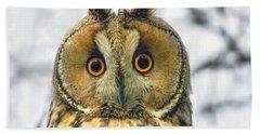 Long Eared Owl 3 Bath Towel