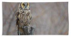 Long Eared Owl Bath Towel