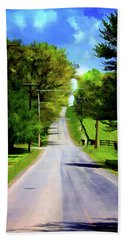 Long Road Ahead Hand Towel