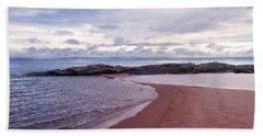 Long Rock In Lake Superior Bath Towel by Phil Perkins