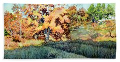 Long Shadow On The Old Cattle Trail Hand Towel