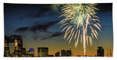 Long Warf Fireworks 1 Hand Towel by Mike Ste Marie