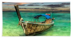 Bath Towel featuring the photograph Longboat Sunset by Adrian Evans