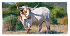 Longhorn Bull Hand Towel