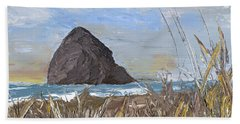 Longing For The Sounds Of Haystack Rock Bath Towel