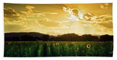 Hand Towel featuring the photograph Longmont Summer Skies 2 by John De Bord