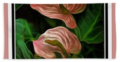 Longwood Lilies Hand Towel by Trish Tritz