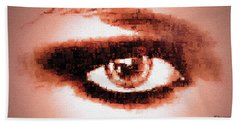 Hand Towel featuring the digital art Look Into My Eye by Paula Ayers