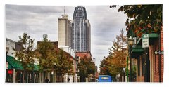 Looking Down Dauphin Street And The Blue Truck Hand Towel