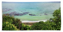 Hand Towel featuring the photograph Looking Down To The Beach by Nareeta Martin