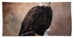 Looking Forward - Eagle Art Bath Towel by Jordan Blackstone