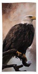 Looking Forward - Eagle Art Hand Towel