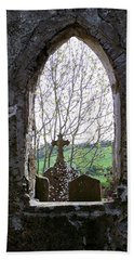 Looking Out Fuerty Church Roscommon Ireland Hand Towel