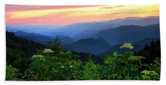 Looking Out Over Woolyback On The Blue Ridge Parkway  Hand Towel