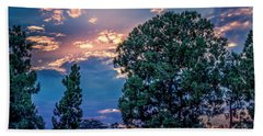 Looking West At Sunset Hand Towel