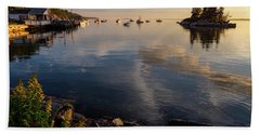 Lookout Point, Harpswell, Maine  -99044-990477 Bath Towel by John Bald