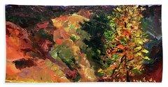 Loose Landscape Hand Towel by Janet Garcia