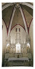 Hand Towel featuring the photograph Loretto Chapel Santa Fe by Kurt Van Wagner