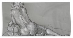 Lori Reclining With Hair Up Hand Towel by Donelli  DiMaria