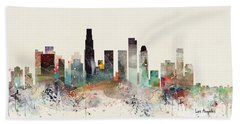 Los Angeles California Skyline Hand Towel