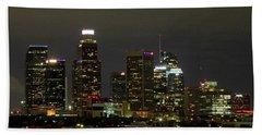 Los Angeles City Lights Bath Towel