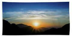 Los Angeles Desert Mountain Sunset Hand Towel