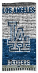 Los Angeles Dodgers Brick Wall Hand Towel