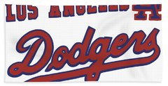 Los Angeles Dodgers Bath Towel by Gina Dsgn