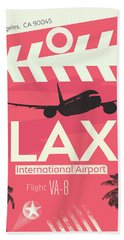 Los Angeles Lax Airport Hand Towel