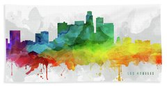 Los Angeles Skyline Mmr-uscala05 Hand Towel by Aged Pixel