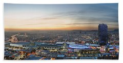Los Angeles West View Hand Towel by Kelley King