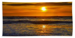 Lost Coast Sunset Hand Towel