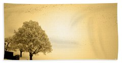 Bath Towel featuring the photograph Lost In Snow - Winter In Switzerland by Susanne Van Hulst
