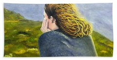 Lost In Thought Hand Towel by Karyn Robinson