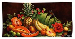 Lots Of Fruit Hand Towel by Laurie Hein