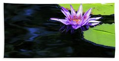 Lotus And Dark Water Refection Hand Towel