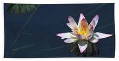 Lotus And Reflection Hand Towel