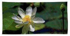 Lotus Blossom Hand Towel by Paul Mashburn