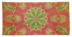 Lotus Garden Hand Towel by Mo T