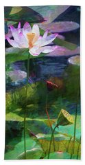 Lotus Bath Towel by John Rivera