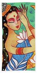 Lotus Meditation Hand Towel