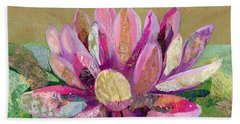 Bath Towel featuring the painting Lotus Series II - 2 by Shadia Derbyshire