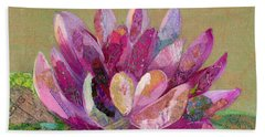 Bath Towel featuring the painting Lotus Series II - 4 by Shadia Derbyshire